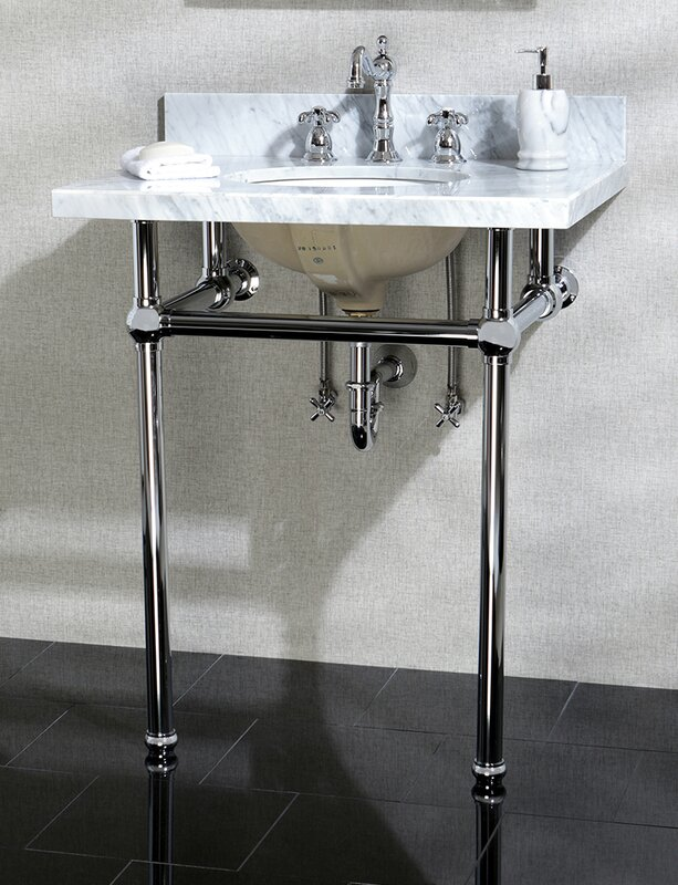 Templeton Ceramic 30  Console Bathroom Sink with Overflow. Console Sinks You ll Love   Wayfair