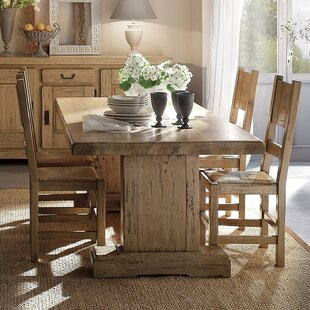 Higgins Solid Wood Dining Table Loon Peak