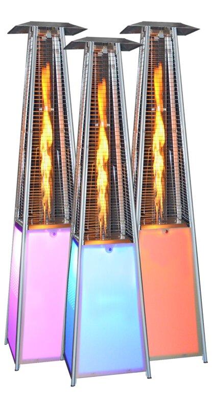 LED Light Portable 40,000 BTU Propane Patio Heater