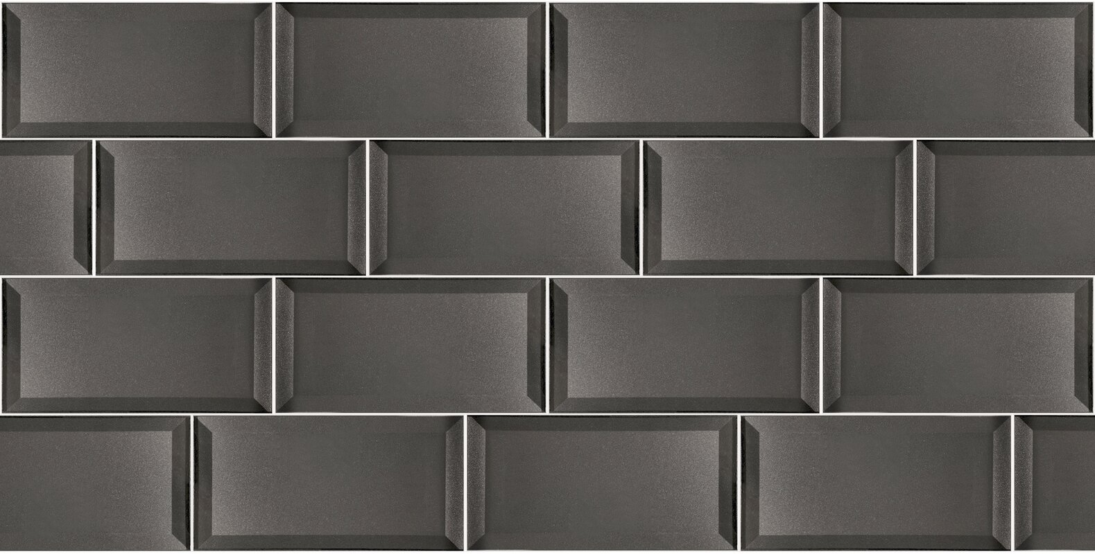 excellent dimensions of subway tile. Secret Dimensions 3  x 6 Glass Subway Tile in Glossy Gray Abolos
