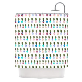Pineapple People by Monika Strigel Single Shower Curtain