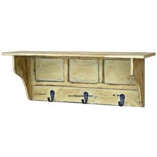 Distressed Shelf With Hooks