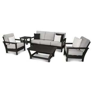 POLYWOOD® Harbour 5 Piece Sunbrella Sofa Set with Cushions