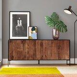 "Colerane 66"" Wide 3 Drawer Mango Wood Buffet Table"