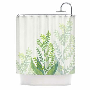 'Botanical Vibes 06' Digital Single Shower Curtain