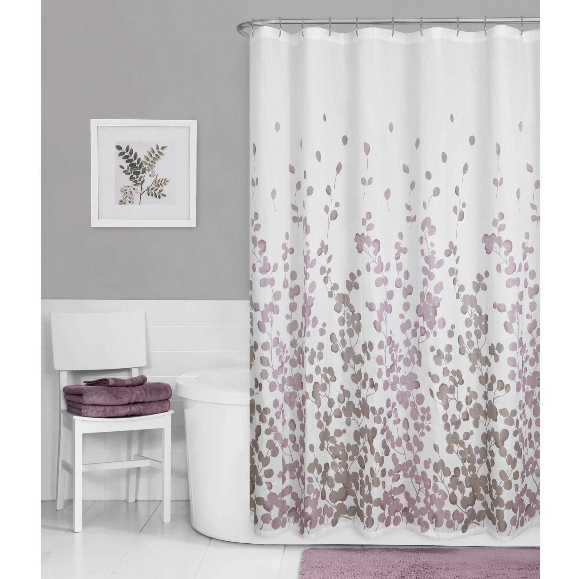 Winston Porter Thad Floral Single Shower Curtain Reviews