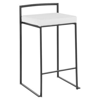 Sensational Wade Logan Gary Bar Counter Stool Upholstery Black Faux Cjindustries Chair Design For Home Cjindustriesco