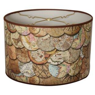 World map lamp shade wayfair vintage maps designer hard back 10 paper drum lamp shade aloadofball Choice Image