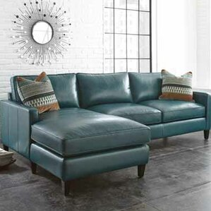 Cadwall Leather Sectional by Brayden Studio