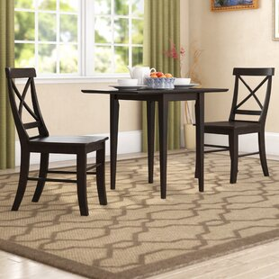 Colwell 3 Piece Solid Wood Dining Set by Winston Porter