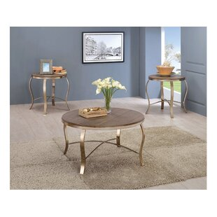 Curley 3 Piece Coffee Table Set