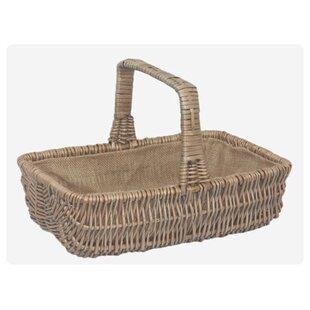 Rectangular Garden Wicker Basket By Brambly Cottage