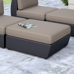 dCOR design Seattle Patio Ottoman with Cu..