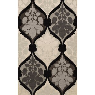 Reviews Bella Machine Woven Wool Gray/Black Area Rug By Dalyn Rug Co.