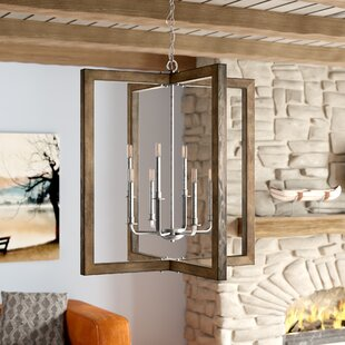 Union Rustic Daugherty 8-Light Square/Rectangle Chandelier