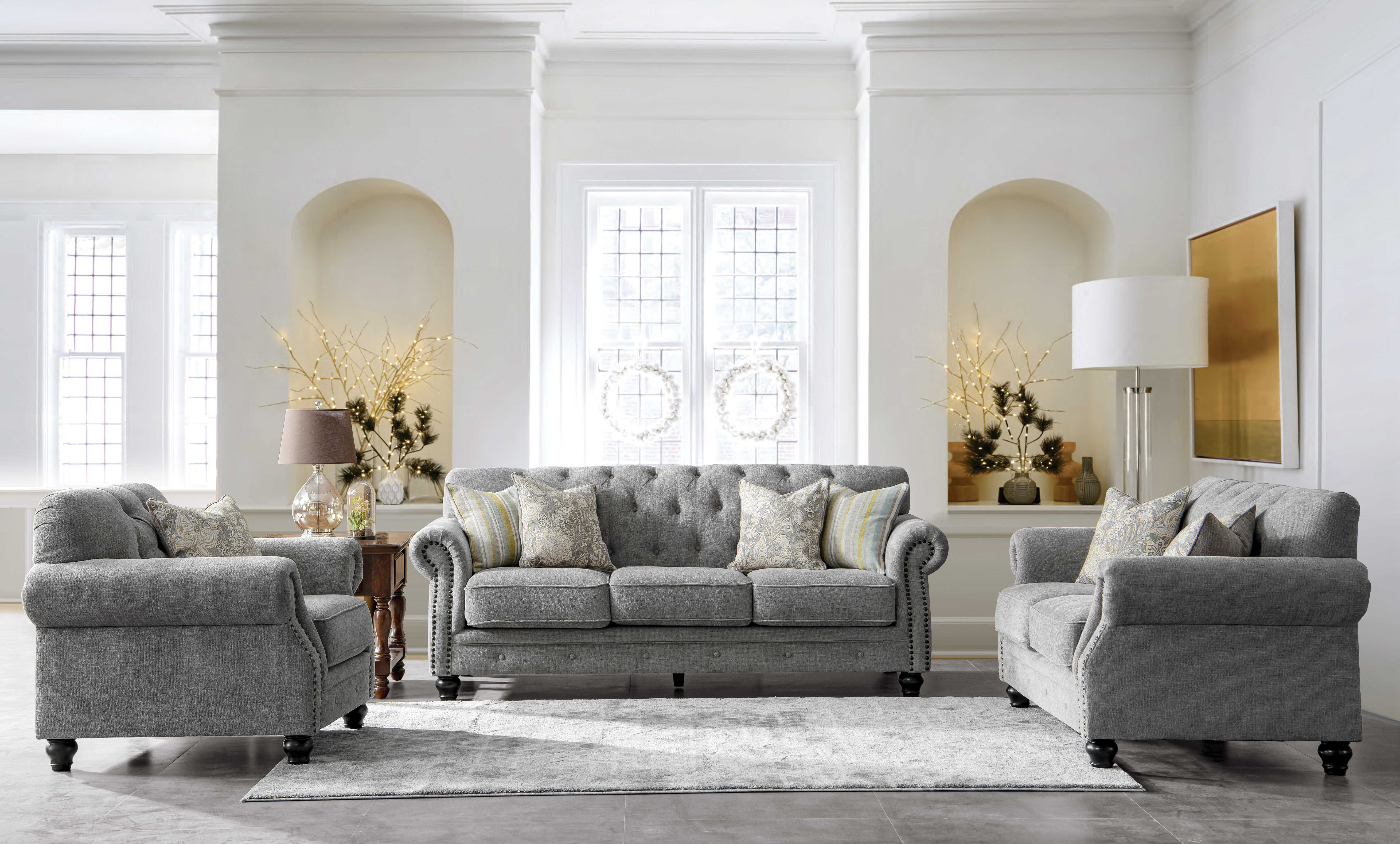 Acanva Configurable 3 Piece Living Room Set
