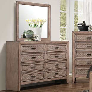 LaTayna 8 Drawer Double Dresser with Mirror