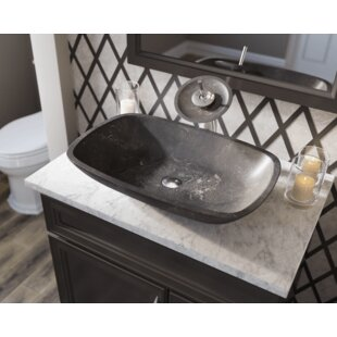 Polaris Sinks Limestone Rectangular Vessel Bathroom Sink