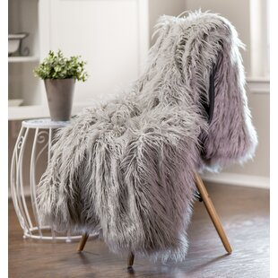 Flara Mongolian Faux Fur Throw by Winston Porter Savings