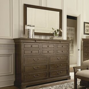 Pond Brook 14 Drawer Dresser With Mirror by DarHome Co 2019 Sale