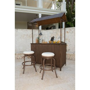Panama Jack Outdoor Tiki 3 Piece Bar Set