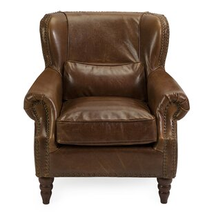 Loon Peak Cedaredge Leather Club Chair