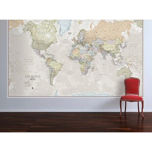 Framed world map wayfair classic world map graphic art print gumiabroncs Images