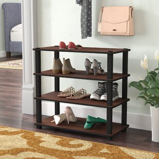 Rebrilliant 4-Tier 12 Pair Stackable Shoe Rack