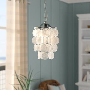 Beachcrest Home Kym Capiz Shell Mini Pendant