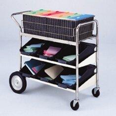 Medium Basket File Cart with Lower Shelf