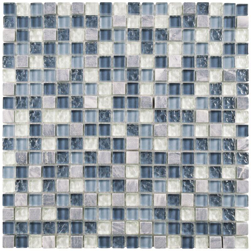 Elitetile Sierra 0 58 X 0 58 Glass Grid Mosaic Tile Reviews Wayfair