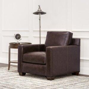 Lynn Leather Armchair by Red Barrel Studio