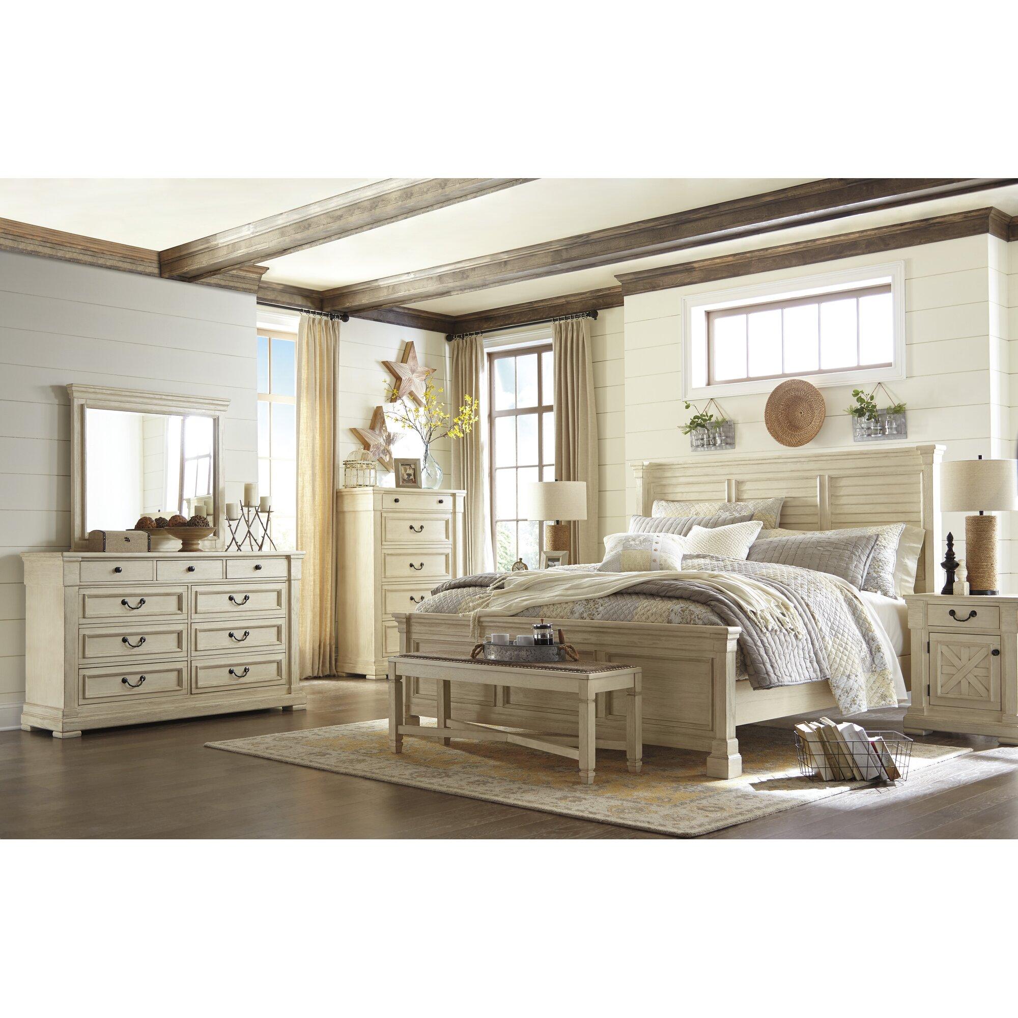 lark manor alsace panel wood headboard & reviews | wayfair supply