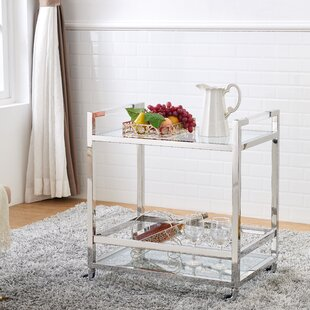 Orren Ellis Geiser Acrylic Bar Cart