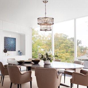 House of Hampton Bria Oceanus 8-Light Dru..