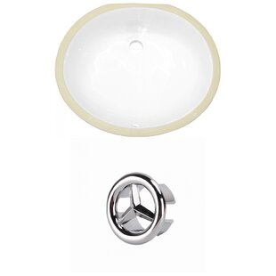 Ceramic Oval Undermount Bathroom Sink with Overflow by American Imaginations