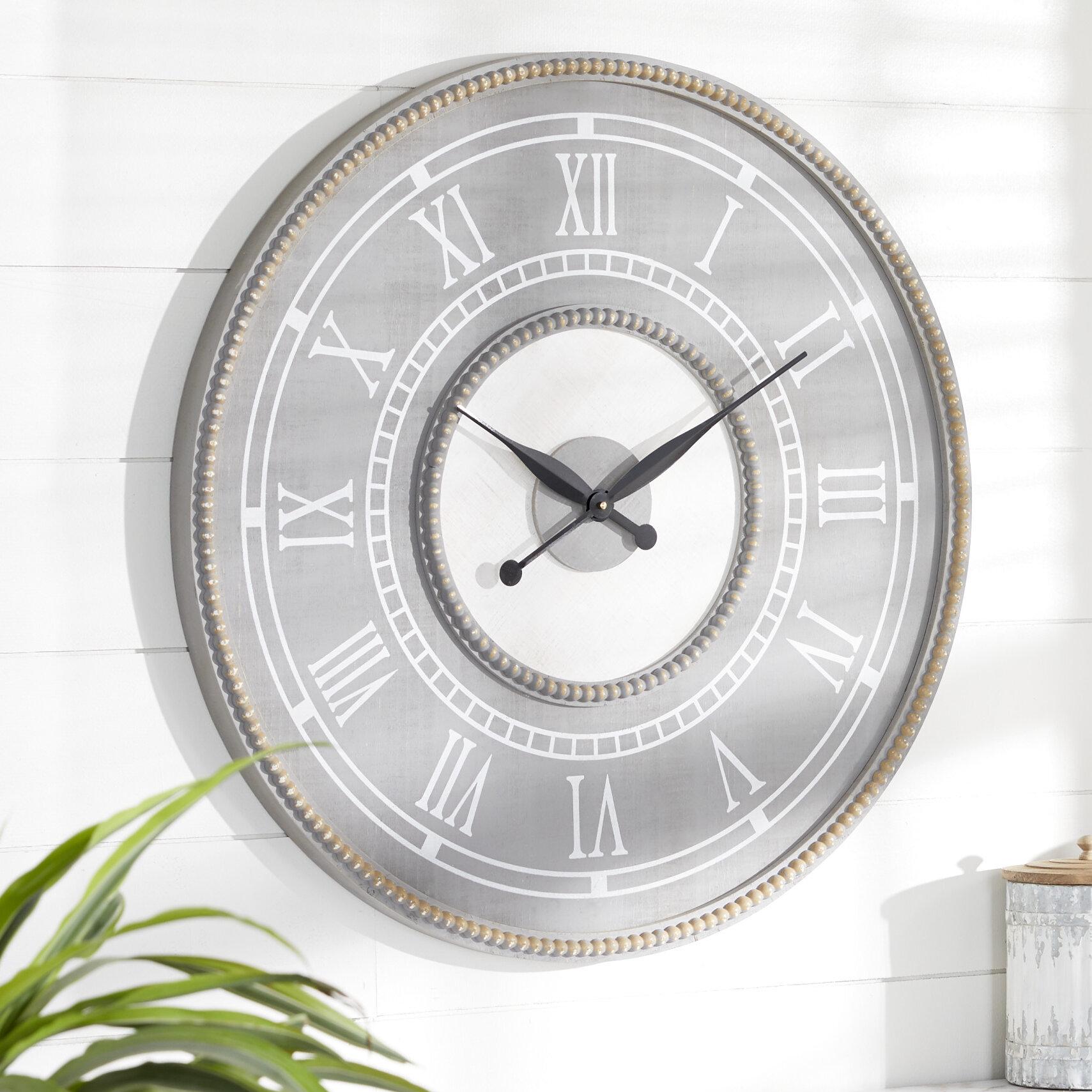 Dakota Fields Oversized 30 Wall Clock Reviews Wayfair