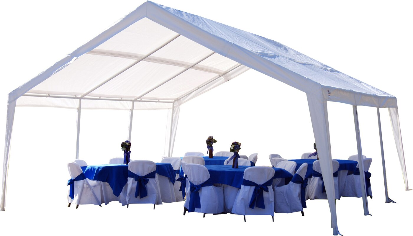 King Canopy 20 Ft. W X 20 Ft. D Steel Pop-Up Party Tent