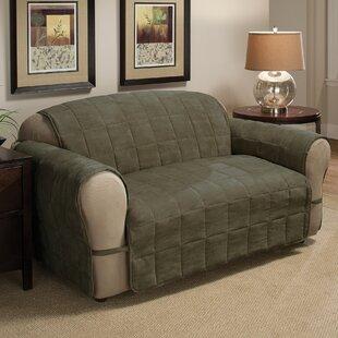 DuVig Box Cushion Loveseat Slipcover By Red Barrel Studio