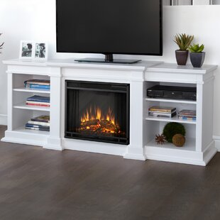 Fresno Entertainment Center for TVs up to 72 with Electric Fireplace By Real Flame