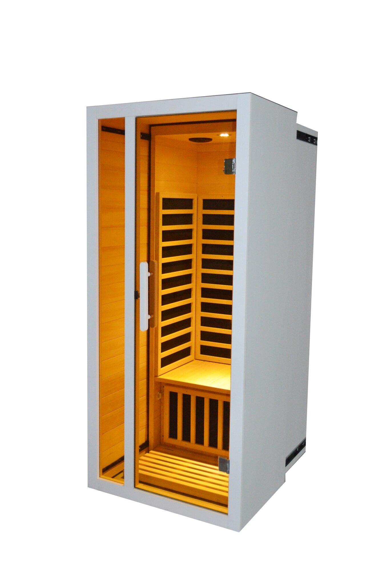 Royal Saunas Hongyuan Extendable Low Emf 1 Person Far Infrared Sauna Wayfair