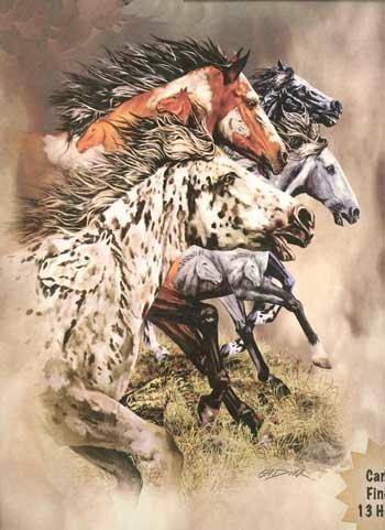 Charlton Home Lueck Extra Heavy Queen Size Wild Stallions Blanket Wayfair