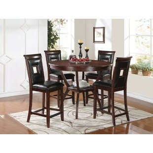 Gartman 3 Piece Counter Height Solid Wood Dining Set