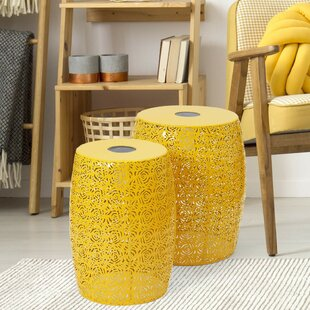 Plastic/Resin  Side Table (Set of 2) by Wrought Studio