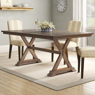 Gertz Trestle Solid Wood Dining Table
