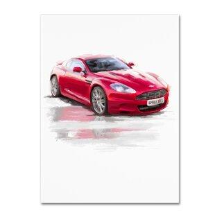 'Aston Martin' Print on Wrapped Canvas ByRed Barrel Studio
