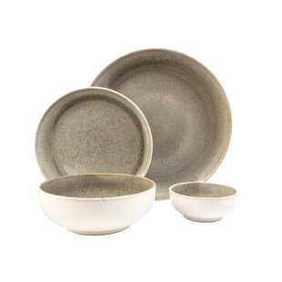 Resona Moss 16 Piece Dinnerware Set Service for 4  sc 1 st  Wayfair & Cottage u0026 Country Dinnerware Sets Youu0027ll Love | Wayfair