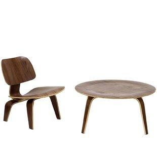 George Oliver Burdon 2 Piece Coffee Table Set