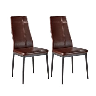 Cerise Upholstered Wood Dining Chair (Set of 2)