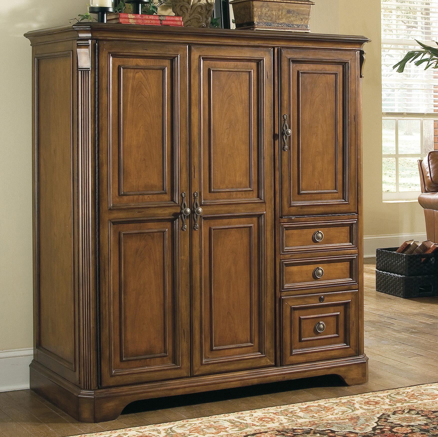 Hooker Furniture Brookhave Armoire Desk Reviews Wayfair